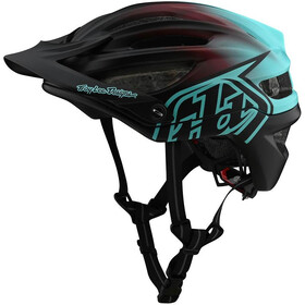 Troy Lee Designs A2 MIPS Kask, stain'd black/turquoise